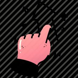 e, commerce, upgrade, upload, arrow, hand, gesture, increase
