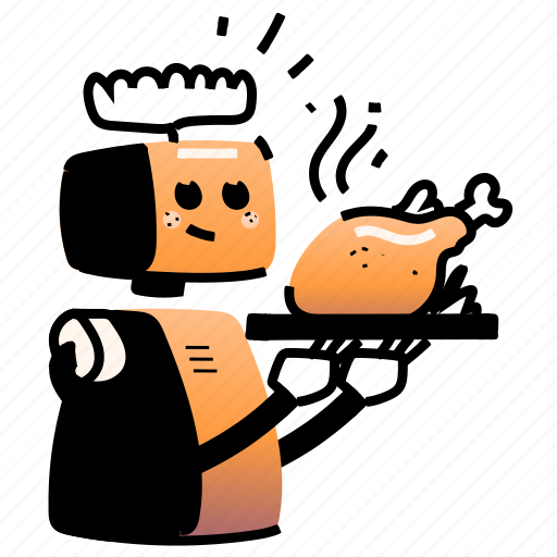 Food, gastronomy, service, automation, robotic, robot, automatic illustration - Download on Iconfinder
