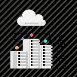 technology, server, rack, network, cloud, storage, transfer, download, upload