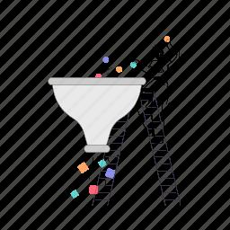 web, development, man, funnel, filter, sorting, sort, ladder