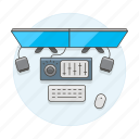 audio, desktop, display, dual, editor, home, interface, office, pc, scenes, screen, study, work, workspace icon