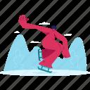 skating, man, woman, winter