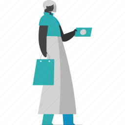 woman, payment, shopping, ecommerce