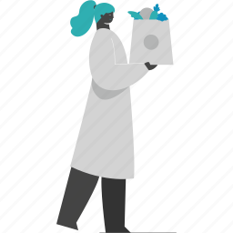 woman, groceries, shopping, female