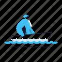 hobby, activity, boat, fishing, man, travel, transportation