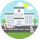 ambulance, clinic, health, health care, healthcare, hospital, medical icon
