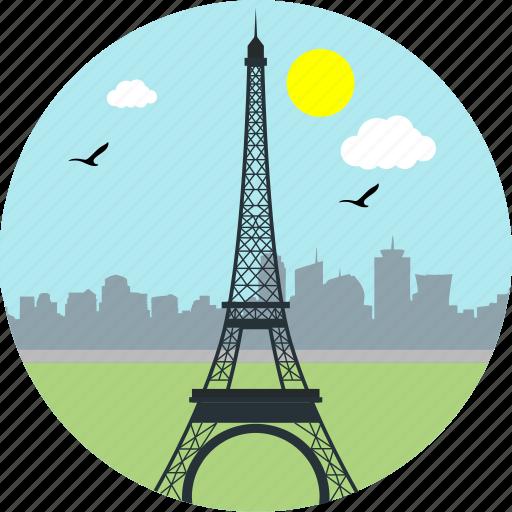 city, eiffel tower, france, monuments, paris, tourism, travel icon