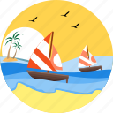 wind surfing, sailboat, sailing, sea, watercraft, sail boat, boat icon
