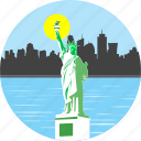 statue of liberty, liberty, monument, newyork, america, american, statue icon