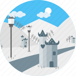 blizzard, christmas, cool, snow, snowstorm, weather, winter icon