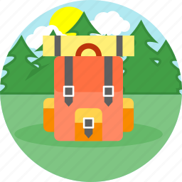backpack, bag, bags, school, sports, sports bag, travel bag icon