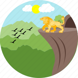 animal, forest, king, lion, sparrow, sparrows, tiger icon