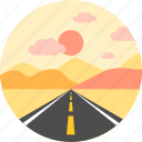 evening, las vegas roads, lasvegas road, moon, road, transportation, travel icon