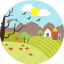 agriculture, autumn, eco, farm, nature, sun, sunny day icon