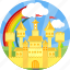 building, castle, fort, fortress, magic, palace, royal estate icon