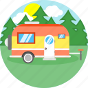 bus, car, travel, truck, van, vanity, vehicle icon