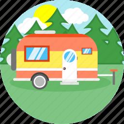 bus, car, travel, truck, van, vanity, vehicle icon