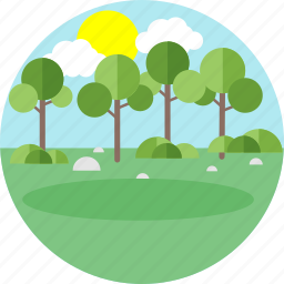 forest, garden, greenery, nature, park, tree, trees icon