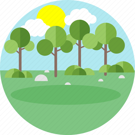 Nature, park, trees, forest, garden, greenery, tree icon - Download on Iconfinder