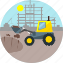 architecture, construction, crane, digger, jcb, machine, miner icon