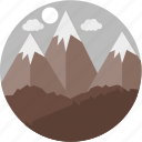 hill, hills, landscape, mount, mountain, mountains, nature icon