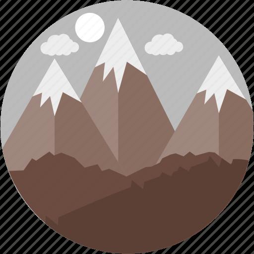 hill, hills, landscape, mount, mountain, mountains, nature icon