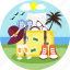 hat, packing, picnic, shoes, travel, vacation, vacations icon