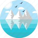 christmas, ice, iceberg, landscape, mountain, snow, snowberg icon
