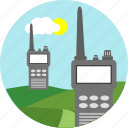 communication, connection, network, radio, signal, walkie talkie, wireless icon