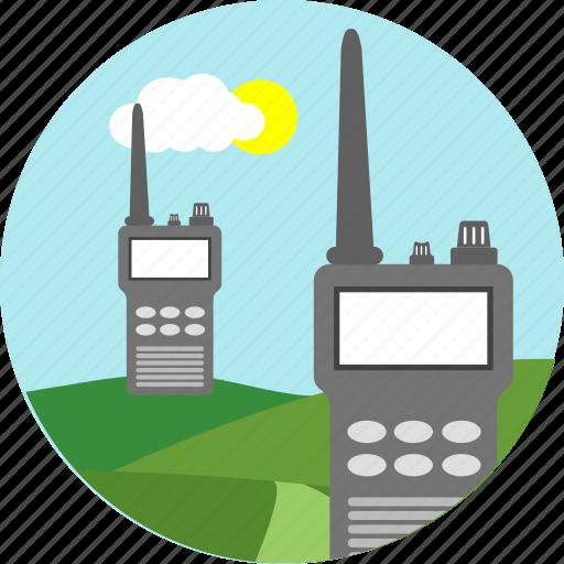 communication, connection, network, radio, signal, walkie talkie, wireless icon