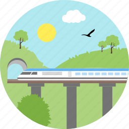 bullet train, cave, japan, metro, train, transportation, travel icon