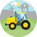 bulldozer, construction, heavy machine, industrial, machinery, truck icon