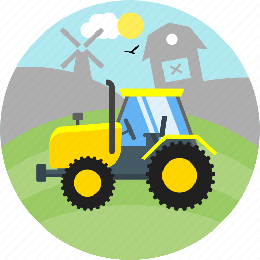 bulldozer, construction, heavy machine, industrial, machinery, truck icon