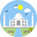 india, monuments, tajmahal, monument, agra, indian, mausoleum icon