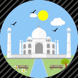 agra, india, indian, mausoleum, monument, monuments, tajmahal icon