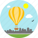 adventure, adventurous, balloon, balloons, hot air balloon, ride, riding icon