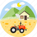 farm, tractor, agriculture, farming, agricultural, gardening, village