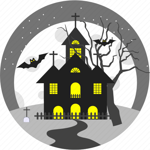 halloween, haunted, horror, house, old, old house, scary icon