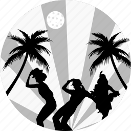 beach party, birthday, celebration, celebrations, dance, night party, party icon