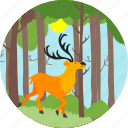 swamp deer, animal, autumn, deer, nature, reindeer, tree