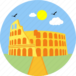 architecture, city, history, landmark, monument, rome, state icon