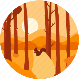 autumn, evening, nature, sand, sunset, tree, tree without leaves icon