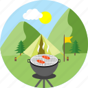 barbeque, camp, camp barbeque, barbecue, camping, cooking, outdoor