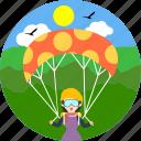 adventure, paragliding, sport, adventurous, parachute, paraglide, sports
