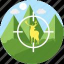 hunting, shooting, sniper, deer, focus, hunt, shoot icon