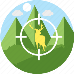 deer, focus, hunt, hunting, shoot, shooting, sniper icon