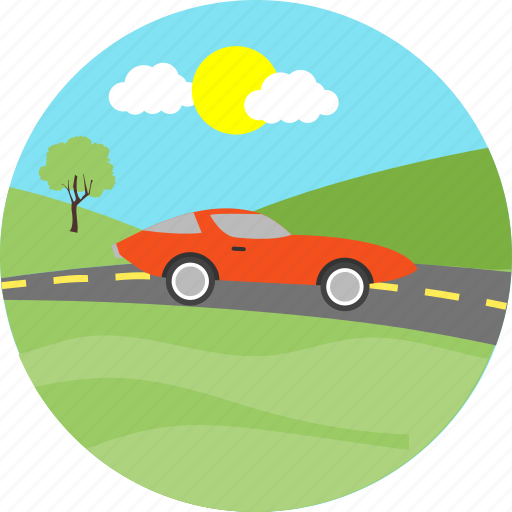automobile, car, driving, road, transport, transportation, vehicle icon