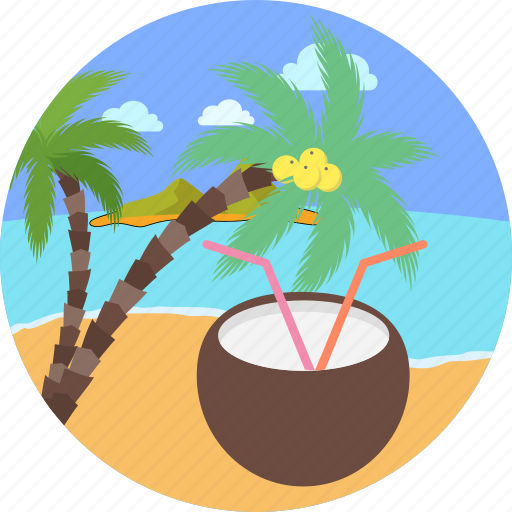 beach, cocktail, drink, holiday, party, sip, vacation icon