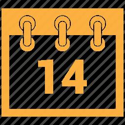 calendar, feb, february, february 14st, month icon
