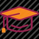 cap, college, degree, diploma, graduation, student, university